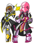 Robotified Hayate and Signum by ChaosCroc