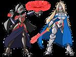 Robotified Shanoa and Katalina by ChaosCroc
