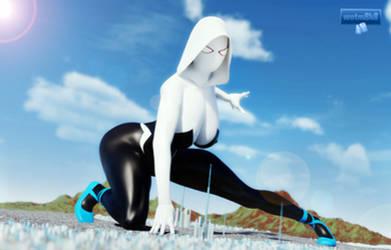 Spider-Gwen Giantess 1
