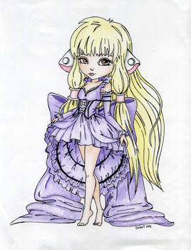 JadeDragonne's Chii LineArt - Colored