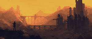 post apocalyptic scenery