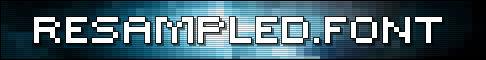 ReSampled.Font Banner