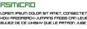RSMicro font