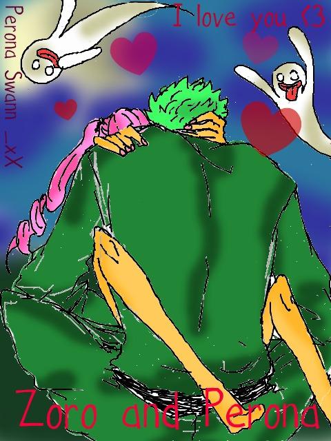 Zoro perona kiss by LuffySwan