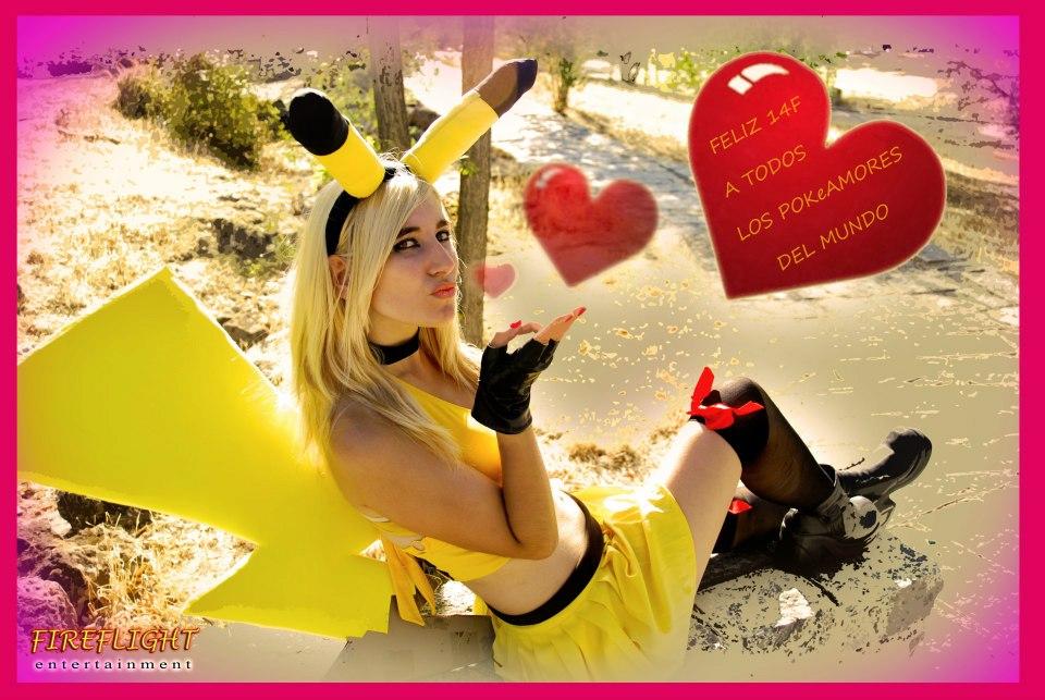 Pikachu Girl kiss by LuffySwan