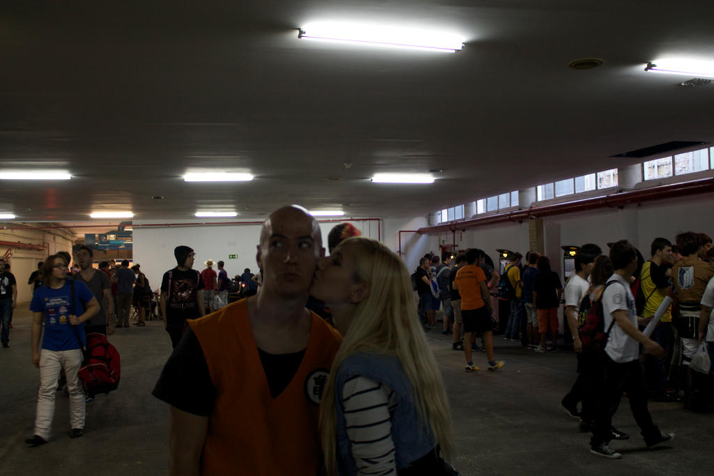 C18 and Krillin kiss by LuffySwan