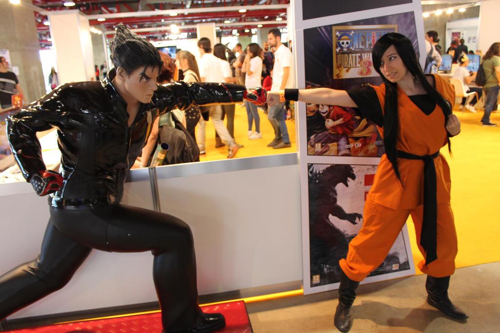 Goku vs Jin Kazama by LuffySwan