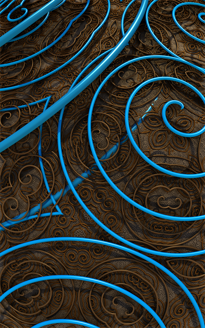 Abstract Brown  Blue 030f by ClydeFrogDA