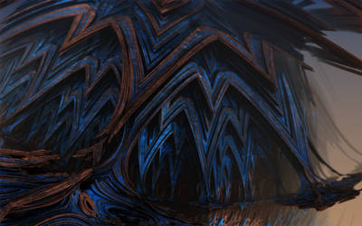 Abstract Brown  Blue 038b by ClydeFrogDA