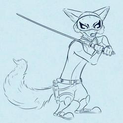 Nick as Kanan (masked)