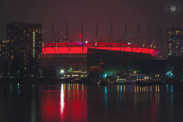 BC Place lit for Crohn's and Colitis Canada by bcdirector