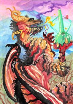 Fantasy Dragon 420 Watercolors