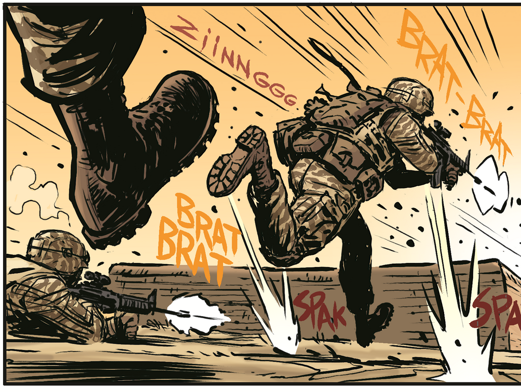Afghanistan veteran story p 3  - panel highlight by Tapitio-Picante