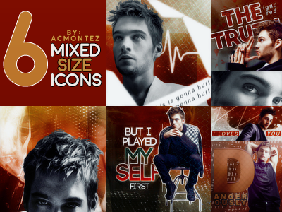 Dylan Sprayberry - Mixed Size Icons by ACMontez