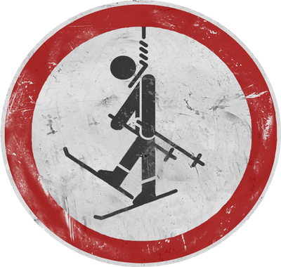 no.ski sign by freeMemb3r