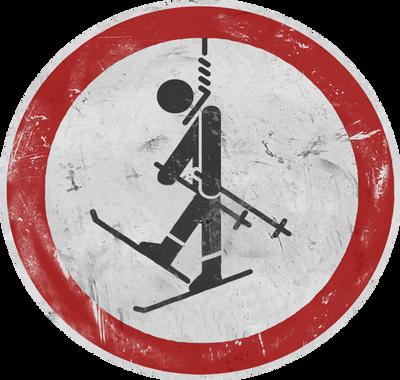 no.ski sign by freeMemb3r