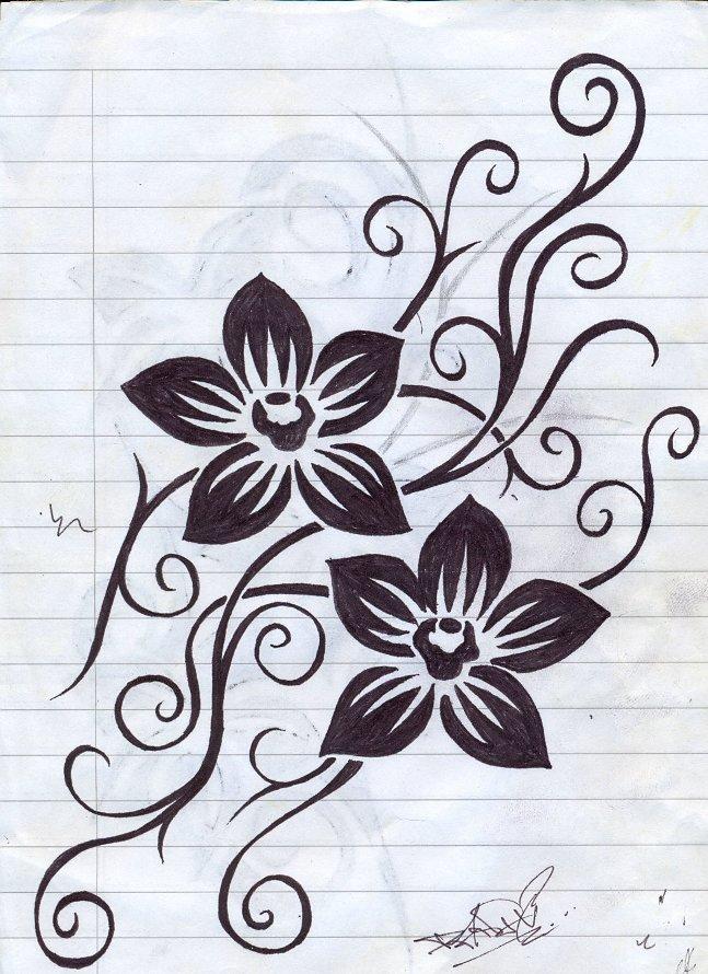 flower tattoo by panixxx on deviantart. Black Bedroom Furniture Sets. Home Design Ideas