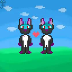 Zay And Zayra Pixel Art