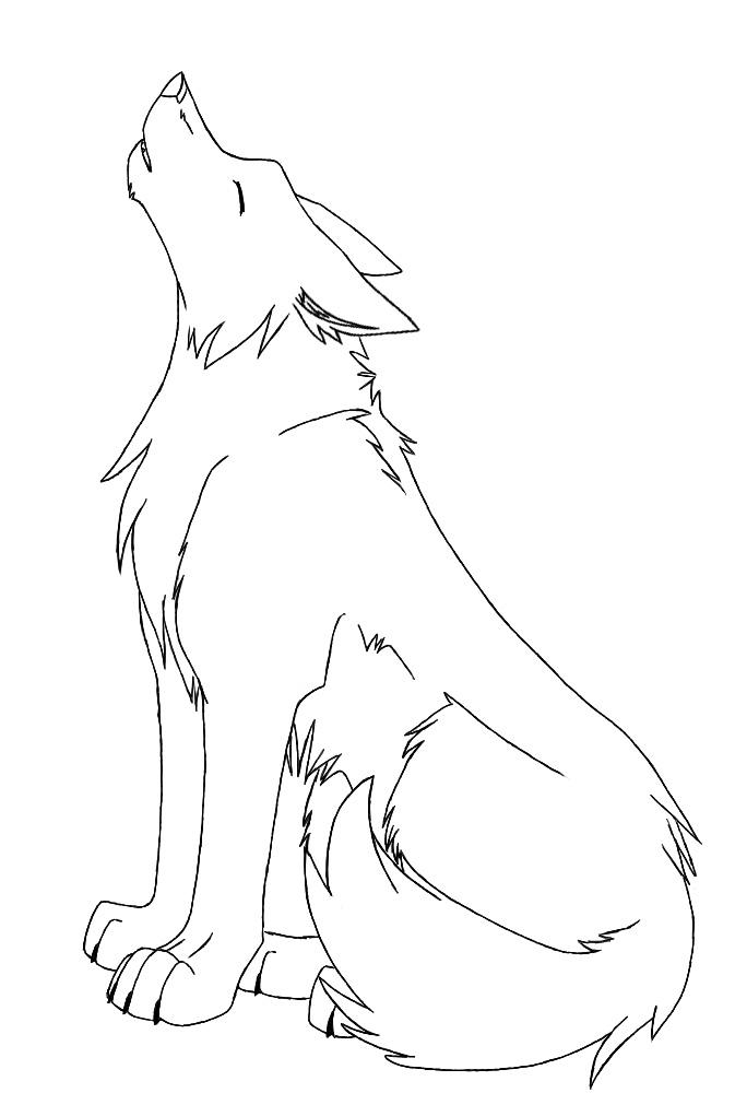 Line Art Wolf : Wolf lineart request kazuma by ruehara on deviantart