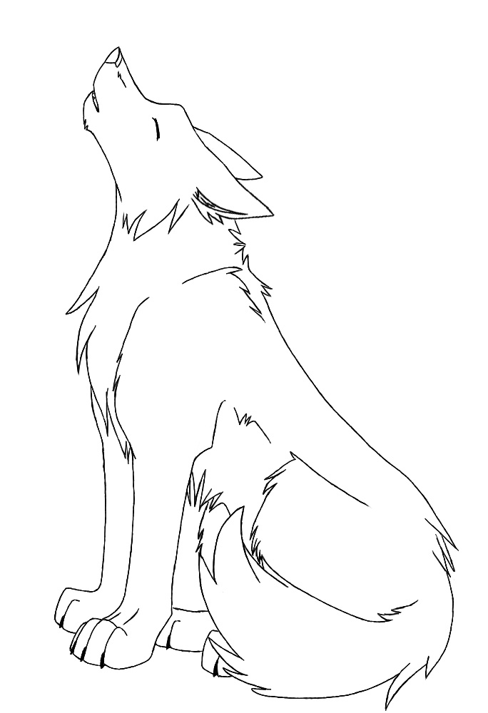 Line Drawing Wolf : Wolf lineart request kazuma by ruehara on deviantart