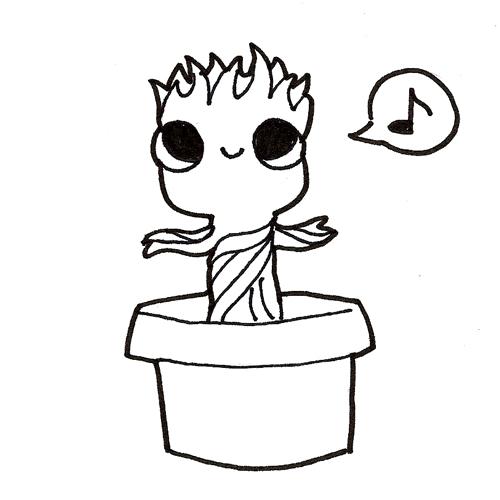 Inktober 19 Baby Groot by DoodleForFood on DeviantArt