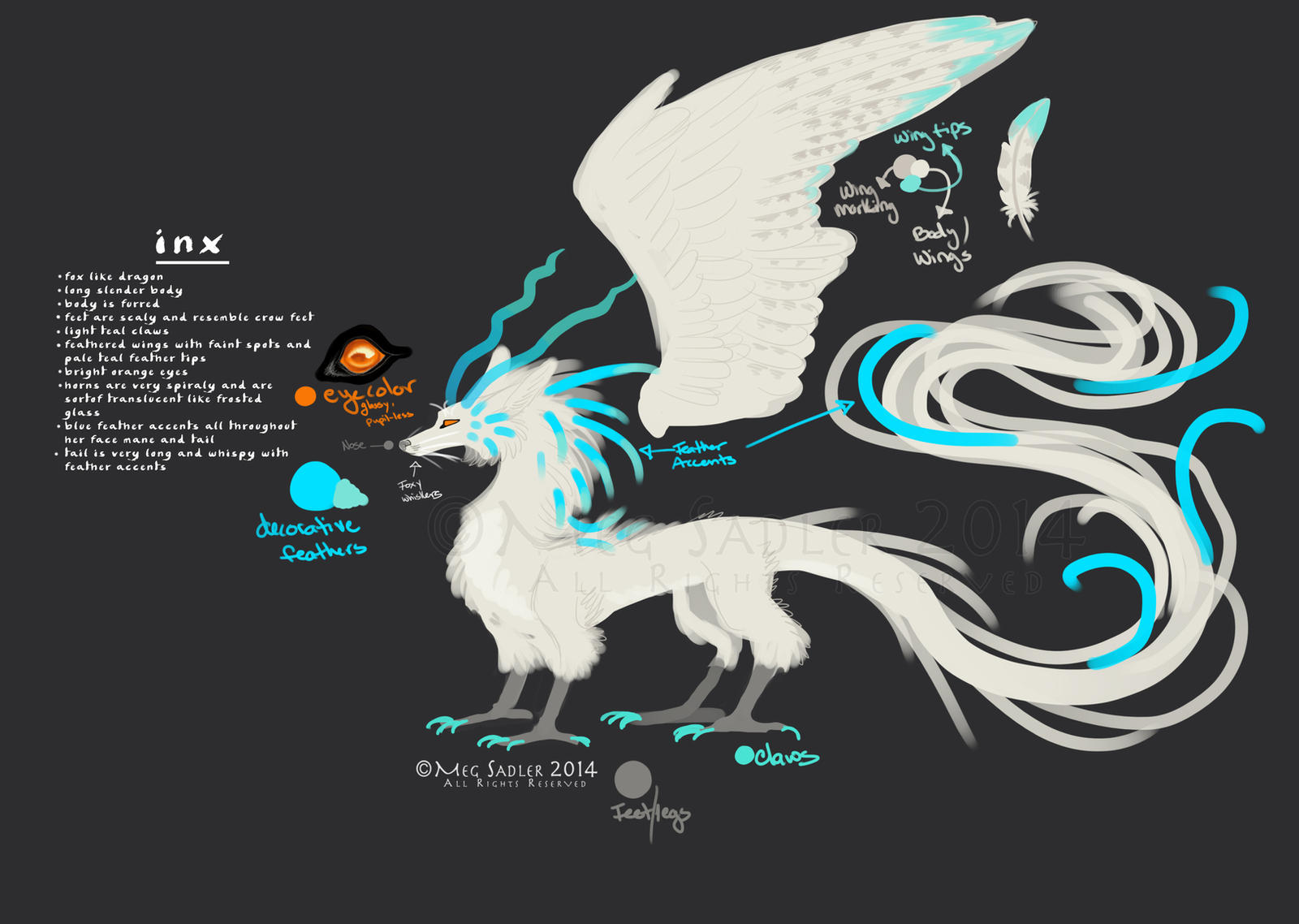 Inx - Reference Sheet by LucidKitsune