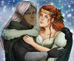 Happy Holidays Drizzt and Catti Bri