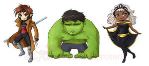 Gambit Hulk Storm Stickers
