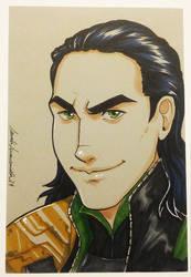 DailySketch Loki by ladyarrowsmith