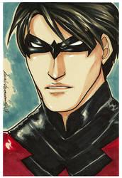 DailySketch Nightwing by ladyarrowsmith