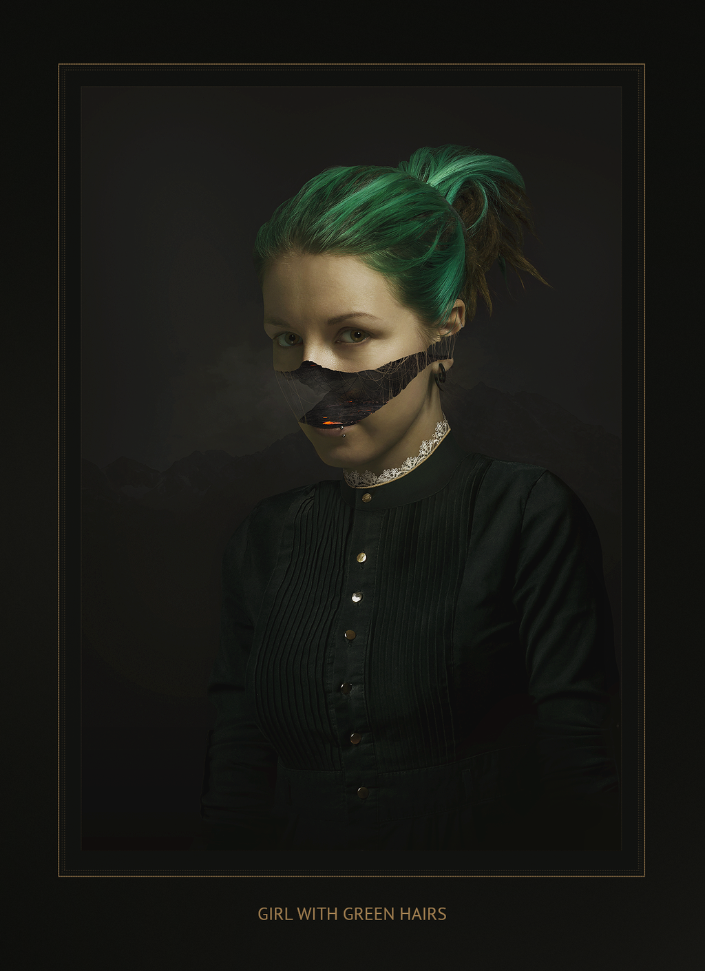 Girl with green hairs by Norg88