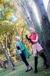 Sakura and Tsunade Cosplay by LifeisaFiction