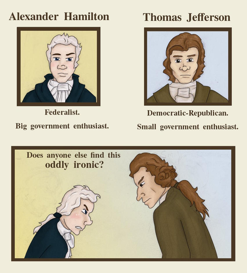 hamilton vs jefferson understanding different political I have to write an essay and it is due tomorrow at school best answer gets 10 points heres the prompt: describe the ideological (beliefs) differences between the alexander hamilton and thomas jefferson, and explain how they led to the formation of political parties.