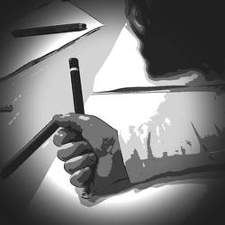 Drawing hand by mgot