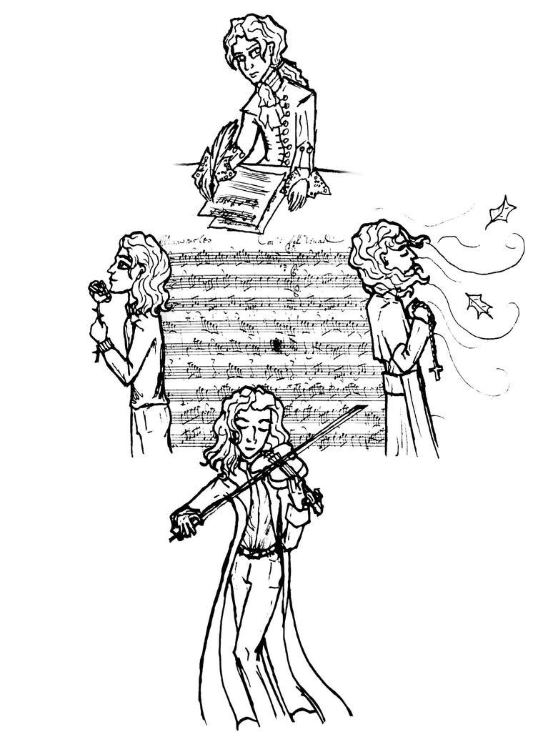 vivaldi four seasons coloring pages | Antonio Vivaldi Coloring Page Coloring Coloring Pages
