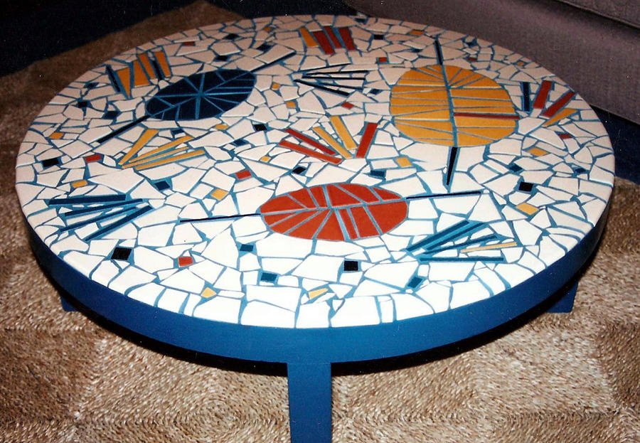 round mosaic coffee table by elljaye on DeviantArt