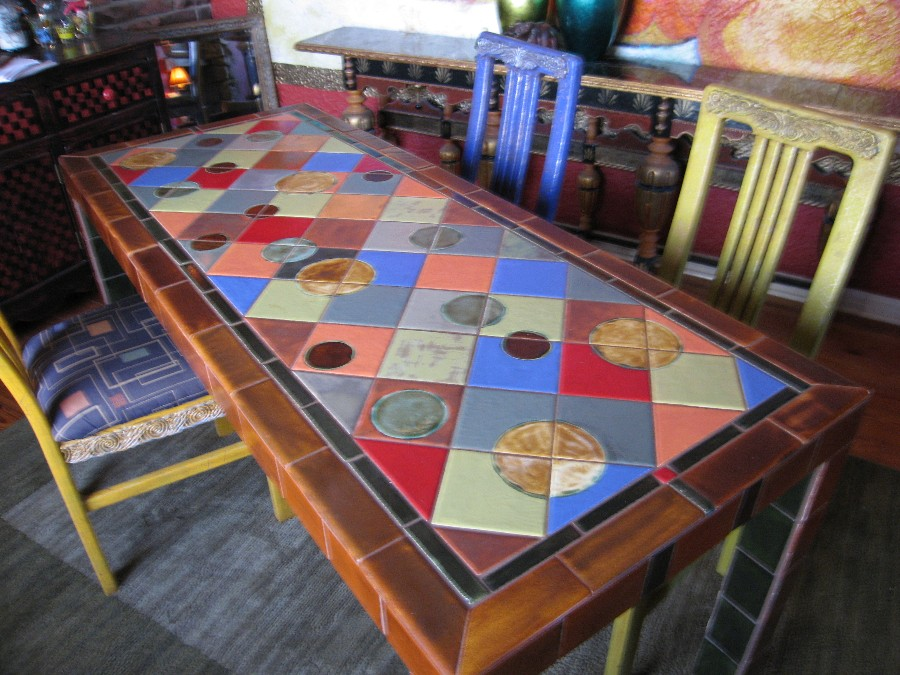 tile dining table by elljaye on deviantart