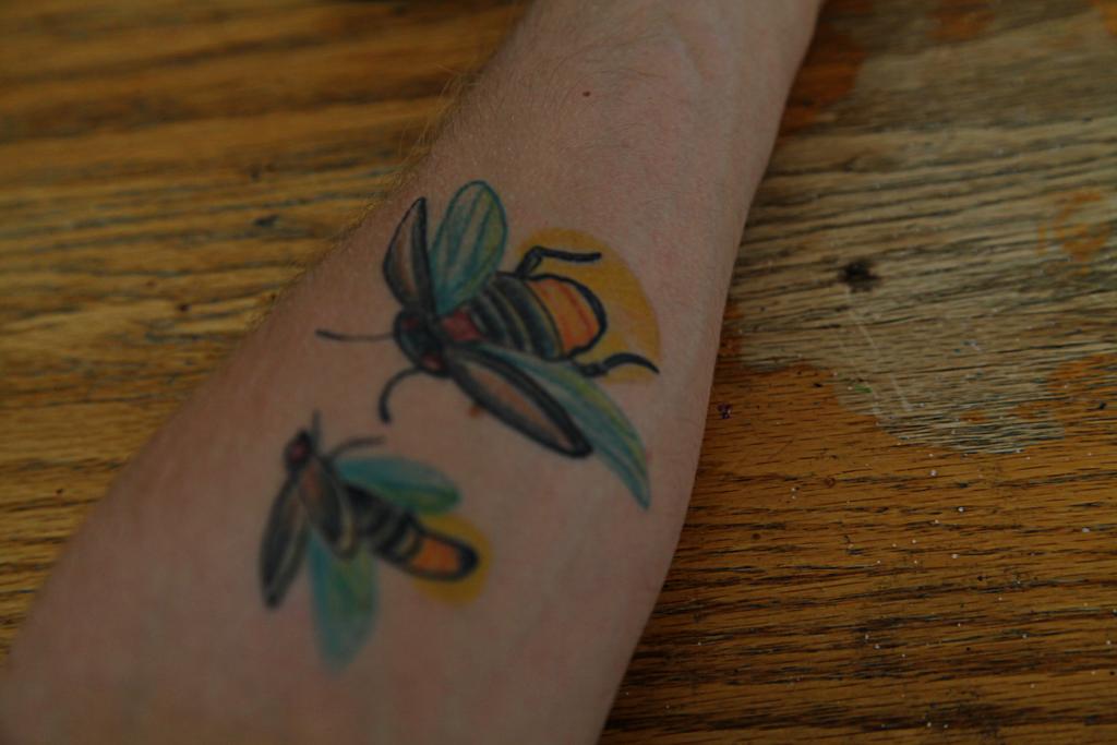 Firefly Bug Tattoo Two Fireflies Tattoo by