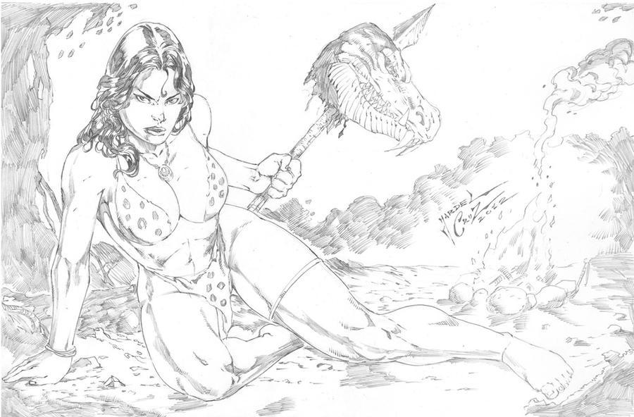 _Cavewoman by JardelCruz
