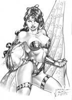 Wonder Woman Grayscale by JardelCruz