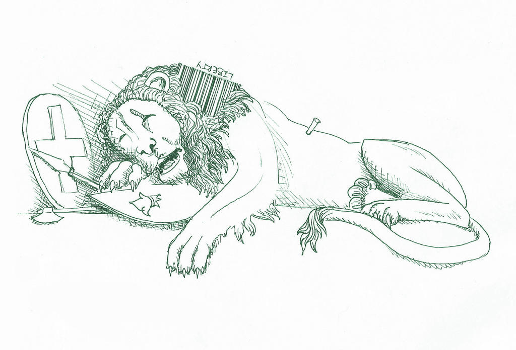 Lucerne Lion by Madame-Neon