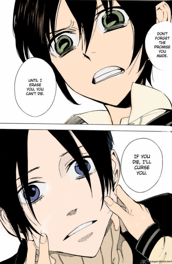 Miharu And Yoite colored by odieluvnikki on DeviantArt Nabari No Ou Yoite And Miharu Kiss