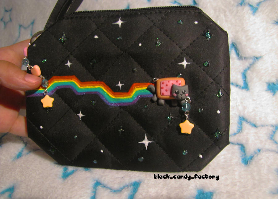 Little nyan cat make-up case by gothic-yuna