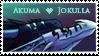 Akuma and Jokulla stamp by Dragoono