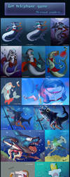 Telephone Art Game - Mermaid Problems by Virensere