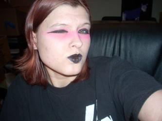 Pink N Black Make Up Design