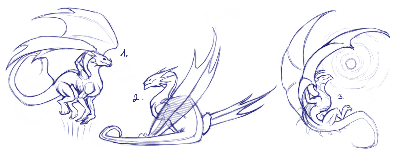 dragon pose references for free by poci16 on deviantart