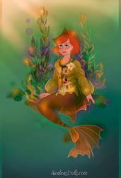 Mermaid Molly Weasley by goat1200