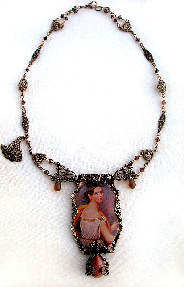 Roman Cabochon Necklace by Aranwen