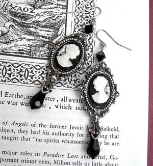 Black Victorian Earrings